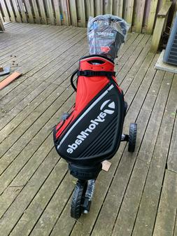 Clicgear Model 4.0 Push Cart with TaylorMade Tour Staff Golf