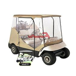 4 Seater Golf Cart Cover W/ Clear and Zippered Doors for EZ