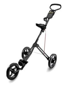 New BAGBOY EXPRESS 500 3 Wheel simple Two-step fold black/re