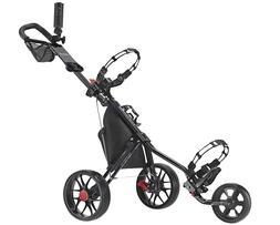 new deluxe 3 wheel golf push cart