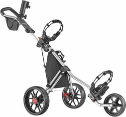 NEW CaddyTek Deluxe 3 Wheel Golf Push Cart Version 3 CaddyLi