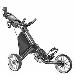 New CaddyTek Golf CaddyLite EZ Fold V8 3-Wheel Push Cart Dar