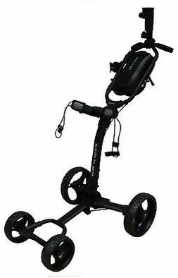 New Axglo Golf- Flip N' Go Push Cart *Black/Black*