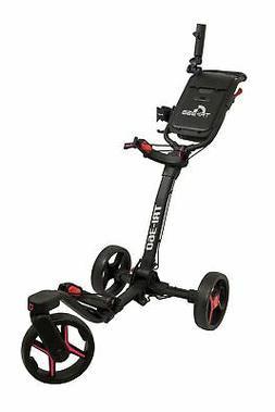 New Axglo Golf Tri-360 Push Cart Black/Red