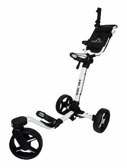 New Axglo Golf Tri-360 Push Cart White/Black