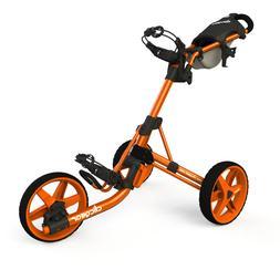New Clicgear Model 3.5+ Golf Push/Pull Cart Orange IN HAND S