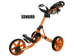 New Clicgear Model 3.5+ Golf Push/Pull Cart Charcoal Orange
