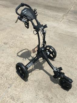 New ClicGear Rovic RV1S Push Pull Golf Bag Cart Charcoal Bla