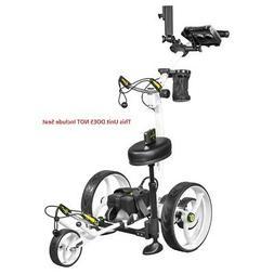 NEW Bat Caddy X8R Electric Golf Bag Cart White w/ 20Ah Lithi