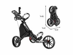 Open Box Dark Grey CaddyTek CaddyLite EZ-Fold 3 Wheel Golf P