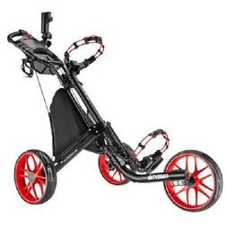 Open Box Red CaddyLite EZ-Fold 3 Wheel Golf Push Cart