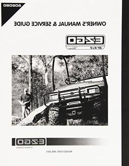 EZGO 602080 2005 Owners Manual and Service Guide for Gasolin