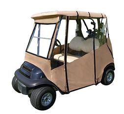 Premium Golf Cart Cover – Portable & Drivable 4-Sided Blac