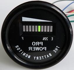 PRO12-48M ProPower's 36 Volt Battery Indicator, Meter for EZ