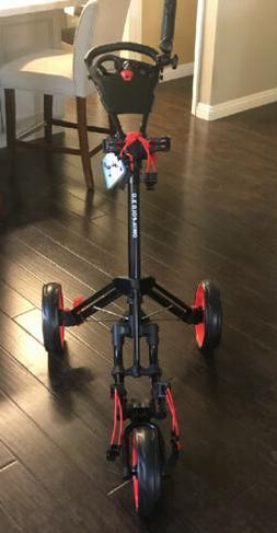 Qwik-Fold 3.0 3 Wheel Push Pull Golf CART Red/Black Brand Ne