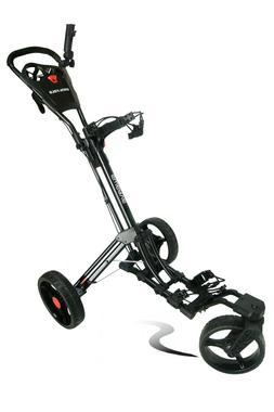 Founders Club Qwik Fold Swerve 360 Swivel 3 Wheel Push Pull