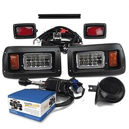 NEW RecPro CLUB CAR DS GOLF CART DELUXE STREET LEGAL ALL LED