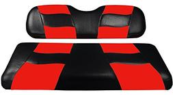 Madjax Riptide Black/Red Two-Tone EZGO TXT & RXV Front Seat