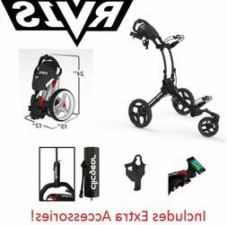 EXTRAS! Rovic RV1S Swivel Clicgear Compact Golf Push Cart Ch