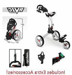 EXTRAS! Rovic RV1S SWIVEL Clicgear Compact Golf Push Cart Ar