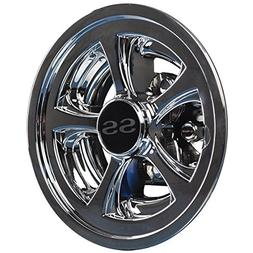 "Set of  SS 8"" Golf Cart   Wheel Covers   Hub Caps   EZGO   C"
