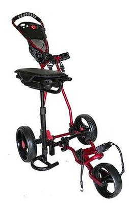 Founders Club Spider 3 Wheel Golf Cart with Seat - Red