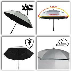 "Suntek 68"" Reflective UV Protection Windcheater Umbrella w"