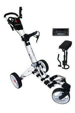 Founders Club Swerve 360 Swivel Wheel Qwik Fold Golf Push Ca