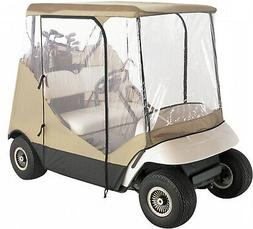 Tan Fairway Travel 4-Sided 2-Person Golf Cart Enclosure Weat