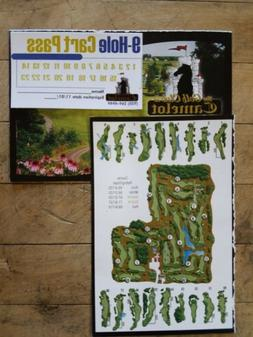 The Golf Club at Camelot 9 Hole Cart Pass Punch Card 23 Sing