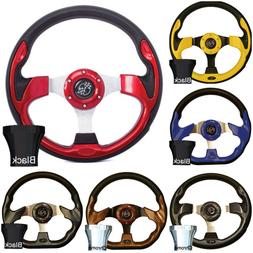 ULTIMATE GOLF CART STEERING WHEEL W/ ADAPTER CLUB CAR EZGO Y