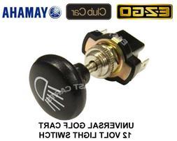 Universal EZGO, Club Car, Yamaha Golf Cart Light Switch Push