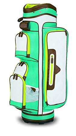 Callaway Uptown Women's Cart Bag-White/Teal/Yellow
