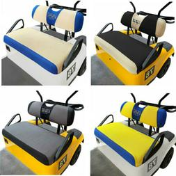 Washable Polyester Mesh Golf Cart Seat Cover Set Fit EZGO RX
