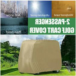 Waterproof Golf Cart Storage Cover Protector 2 Passenger for