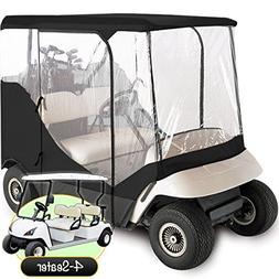 WATERPROOF SUPERIOR BLACK AND TRANSPARENT GOLF CART COVER CO