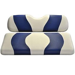 Madjax Wave 1994-Up White/Blue Two-Tone Front Seat Cover for
