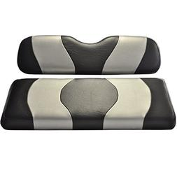 Madjax Wave 1994-Up Black/Silver Two-Tone Front Seat Cover f