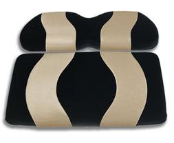 Madjax Wave 2004-Up Black/Tan Front Seat Cover for Club Car