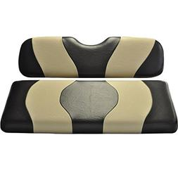 Madjax Wave Black/Tan Two-Tone Rear Seat Cover for Most Golf
