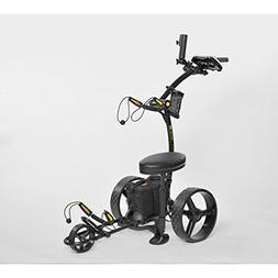 Bat-Caddy X4 Sport Electric Golf Push Cart 2017 12V 16Ah Lit